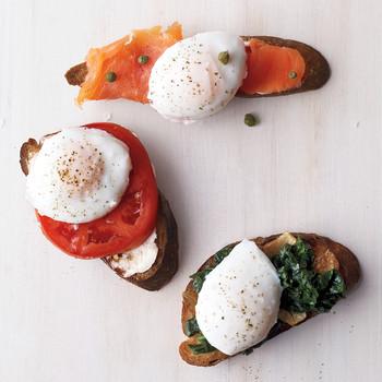 Poached Eggs on Toast Ideas