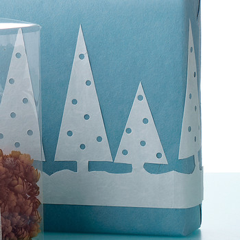 Wintry Scene Cutout for Gift Wrap