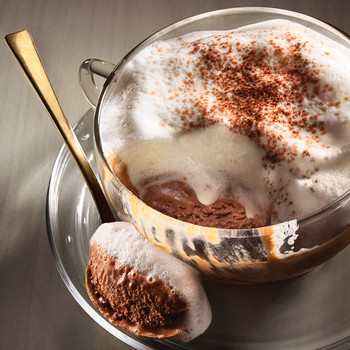 Mocha Semifreddo with Hot Milk Foam