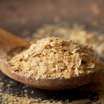 nutritional yeast on a spoon