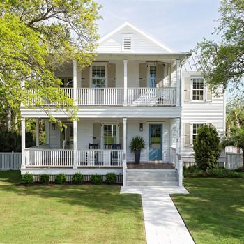 White Home with Front Veranda