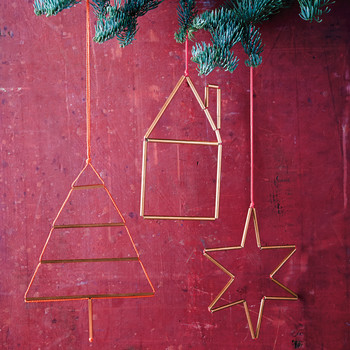 Metal Garland and Ornaments