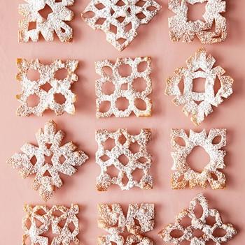 雪的天使饼干