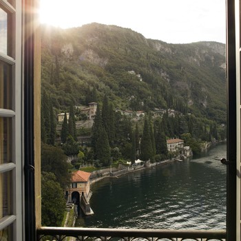window view of Lake Como in Italy