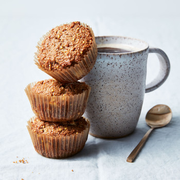 Double-Apple Bran Muffins