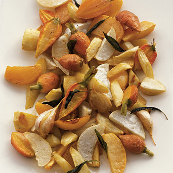 Roasted Root Vegetables with Sage and Garlic