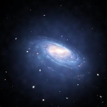dark matter halo surrounding galaxy