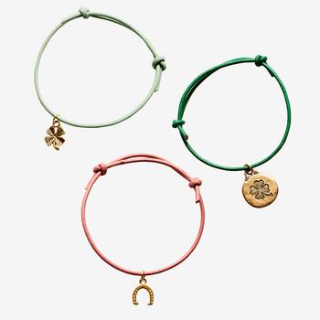 diy cord charm bracelets