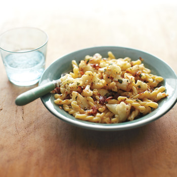 Gemelli with Cauliflower, Bacon, and Sage
