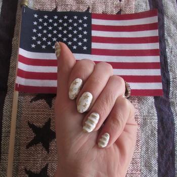 Metallic Fourth of July Nail Art