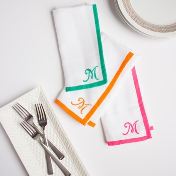 Mother's Day Gift: Monogrammed Napkins