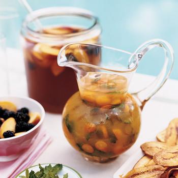 Peach and Blackberry Iced Tea