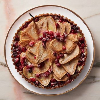 Pear-Cranberry Tart