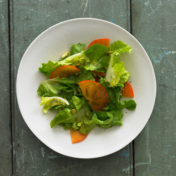 Persimmon and Escarole Salad