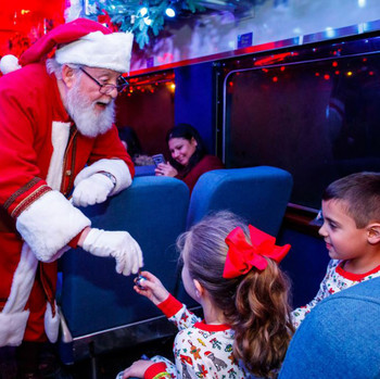 Santa on the Polar Express Train Ride