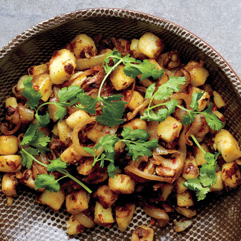 Spiced Potatoes and Onions