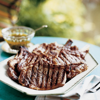 Grilled Rib Chops with Mojo Sauce