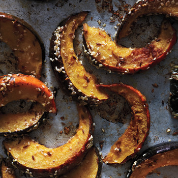 Roasted Squash with Sesame Seeds and Cumin