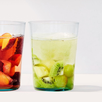 white sangria glasses