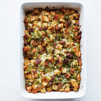Sausage Pear Stuffing