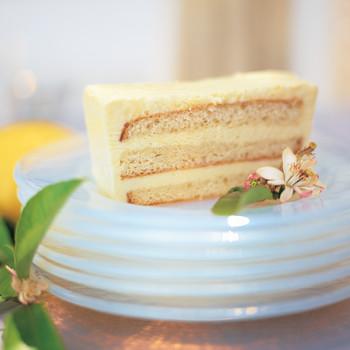 lemon semifreddo cake