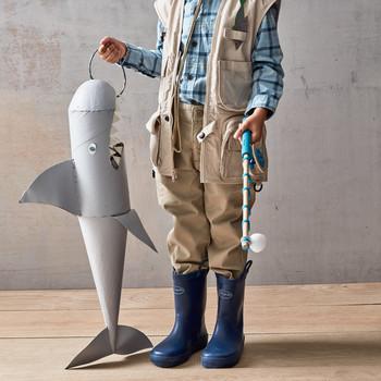 shark treat bag for Halloween