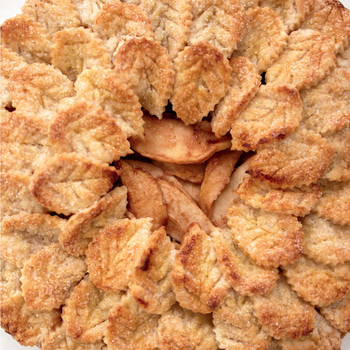 Shingled-Leaf Brandy Apple Pie
