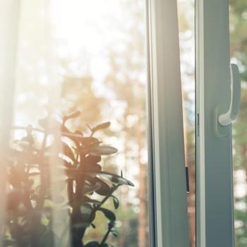 window cracked open on summer day
