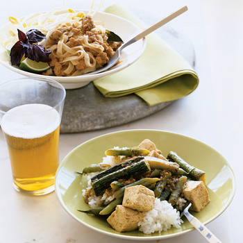Thai Red Curry with Pork and Noodles