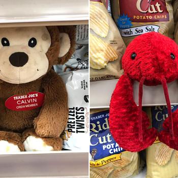 Stuffed animals in Trader Joe's