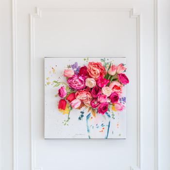 3d floral wall art