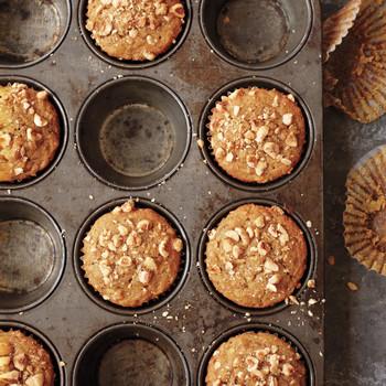 Butternut Squash, Apple, and Hazelnut Muffins