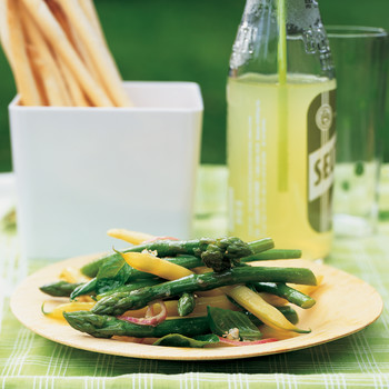 Asparagus and String Bean Salad with Basil
