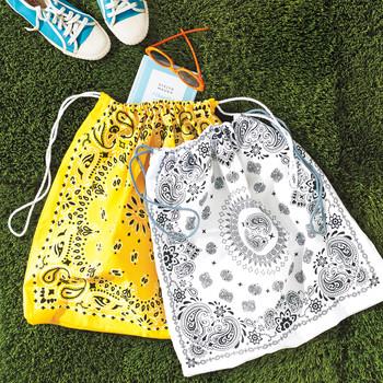 Drawstring Bandanna Tote Bags