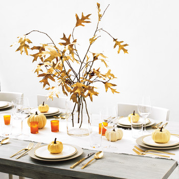 Golden Fall Leaves Centerpiece