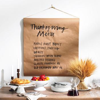 Thanksgiving Menu Banner