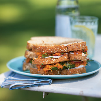 Carrot Sandwich with Avocado