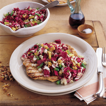 Grilled Chicken Paillard and Chopped-Radicchio Salad