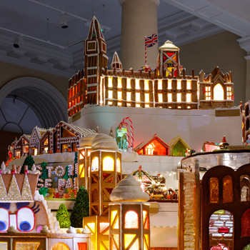 City made of gingerbread