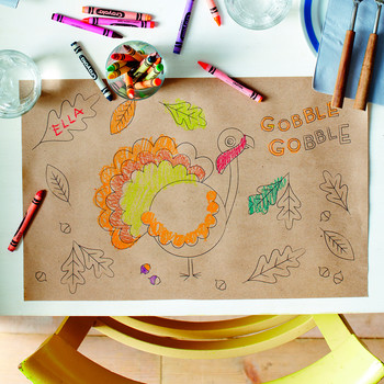 Thanksgiving Coloring Place Mat for Kids