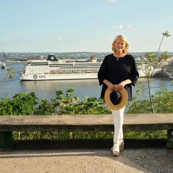 Martha Stewart on a cruise.