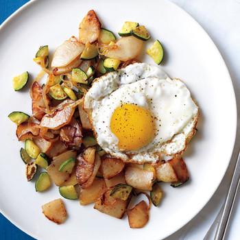 Potato and Zucchini Hash