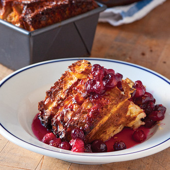 Cranberry-Maple Bread Pudding