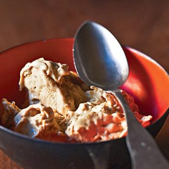 Cinnamon Breadcrumb-Sprinkled Ice Cream