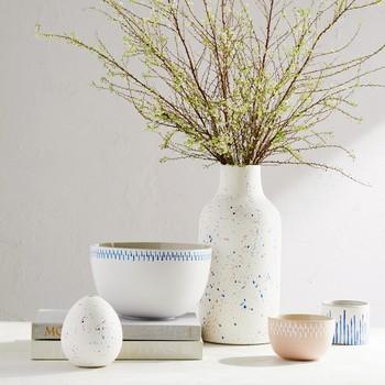 painted pottery ceramics decor