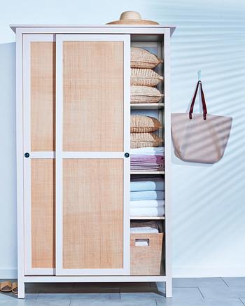 raffia paneled doors