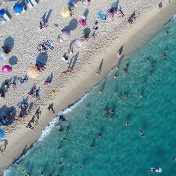People enjoying summer on the beach