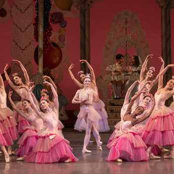 ballerinas performing section of The Nutcracker