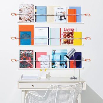 DIY Bungee Cord Shelves