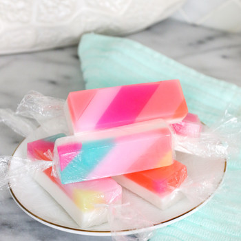 candy striped soap